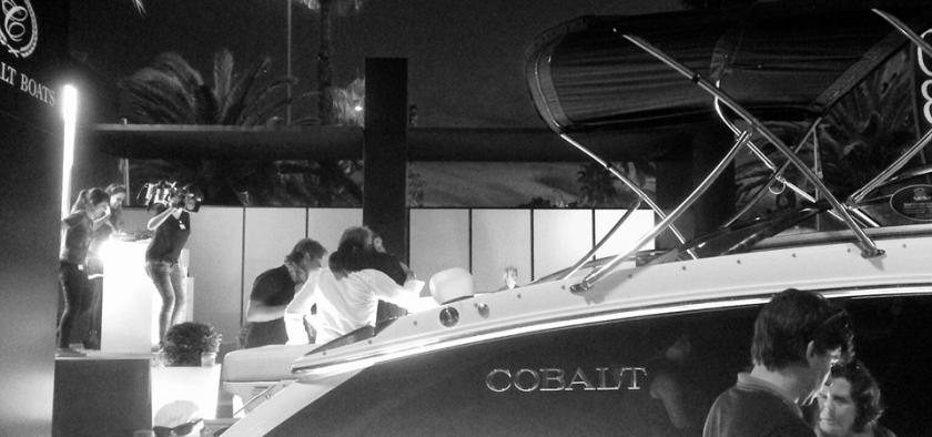 Cobalt Boats Booth at Salon Nautico de Barcelona.