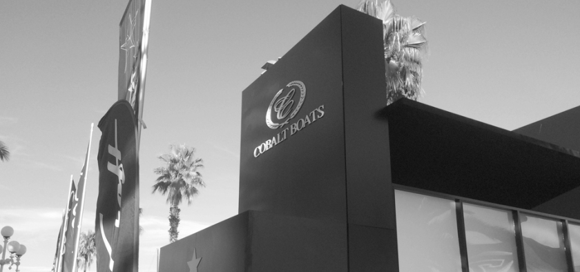 Cobalt Boats Exterior Booth at Salon Nautico de Barcelona. Spain. Booth design and Construction.