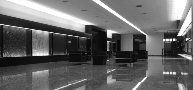 Showroom Granite Center at Spain. Levantina. Ambient Design and Construction.