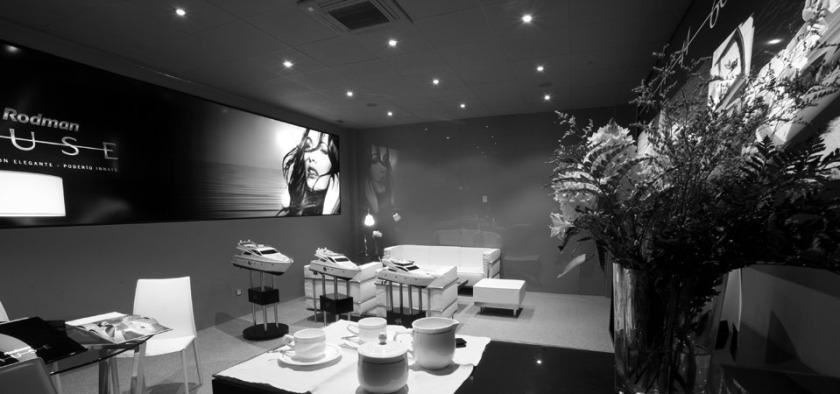 Showroom acomodation. Rodman Muse Yachts. Ambient Design.